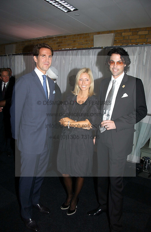 Left to right, CROWN PRINCE PAVLOS, PRINCESS MARIE CHANTAL OF GREECE and LUCAS WHITE at the Fortune Forum Dinner held at Old Billingsgate, 1 Old Billingsgate Walk, 16 Lower Thames Street, London EC3R 6DX<br />