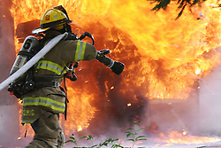 6/21/2011 Allen Township, PA Fire crews were called to 2269 Howertown Road in Allen Township early Tuesday evening for a garage fire. Fire crews battled the large garage for 20 minutes before the fire was under control. Express-Times Photo | CHRIS POST