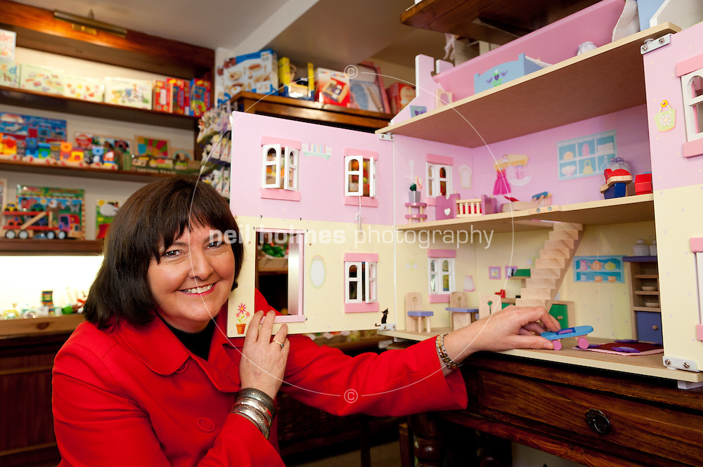 Nicola Henderson of the Toy Gallery Ladaygate, Beverley, shows her Christmass toys and dolls houses