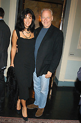 Musician DAVID GILMOUR and his wife POLLY SAMPSON at a party hosted by Tatler magazine to celebrate the publication of Lunar park by Bret Easton Ellis held at Home House, 20 Portman Square, London W1 on 5th October 2005.<br /><br />NON EXCLUSIVE - WORLD RIGHTS