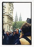Manifestazioni contro il summit del Fondo Monetario Internazionale e della Banca Mondiale. Praga, settembre 2000. Luca Casarini.