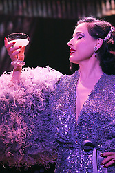 "EXCLUSIVE: Burlesque Artist Dita Von Teese will begin the West Coast run of her show ""The Art of the Teese"" next week in San Diego, but in these just approved images from her tour back in February while in NYC for five nights at the Gramercy Theatre, she exudes glamour. She debuted brand new costumes for the two new acts she added to the show. The first was her ""Black Swan"" costume designed by long time collaborator Catherine D'Lish & the second was a custom Jenny Packham gown for her act called ""Lazy"". Also included are her famous""Martini Glass"" act as well as her ""Rhinestone Cowgirl"". This leg of the show runs through the end of July. 29 Jun 2017 Pictured: Dita Von Teese. Photo credit: Jennifer Mitchell / MEGA TheMegaAgency.com +1 888 505 6342"