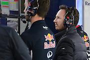 February 26-28, 2015: Formula 1 Pre-season testing Barcelona : Christian Horner, team principal of Red Bull Racing