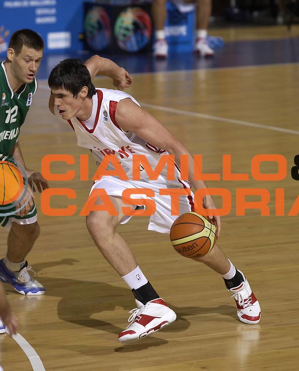 DESCRIZIONE : Madrid Spagna Spain Eurobasket Men 2007 Qualifyng Round Turchia Slovenia Turkey Slovenia <br /> GIOCATORE : Ersan Ilyasova <br /> SQUADRA : Turchia Turkey <br /> EVENTO : Eurobasket Men 2007 Campionati Europei Uomini 2007 <br /> GARA : Turchia Slovenia Turkey Slovenia <br /> DATA : 08/09/2007 <br /> CATEGORIA : Penetrazione <br /> SPORT : Pallacanestro <br /> AUTORE : Ciamillo&amp;Castoria/JF.Molliere <br /> Galleria : Eurobasket Men 2007 <br /> Fotonotizia : Madrid Spagna Spain Eurobasket Men 2007 Qualifyng Round Turchia Slovenia Turkey Slovenia <br /> Predefinita :