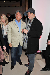 Left to right, HOSSEIN AMIRSADEGHI and RON ARAD at the launch Sanctuary, Britains Artists and their Studios held at Christies, 8 King Street, St.James's, London on 13th March 2012.
