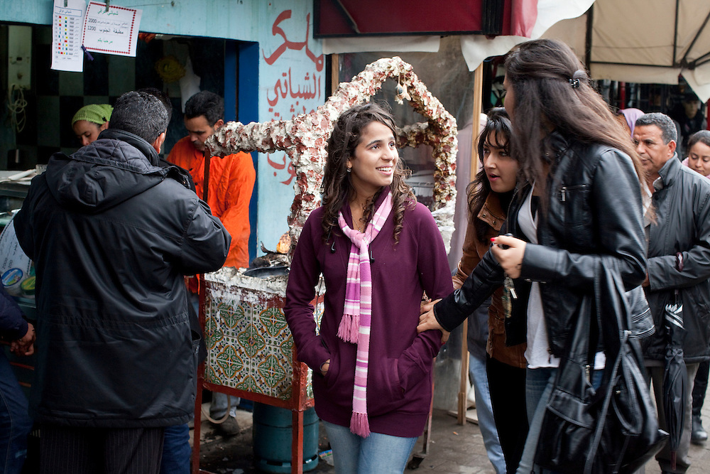 Tunis, Tunisia. January 27th 2011.A daily life scene outside the protests places, thirteen days after the ousted president Zine El Abidine Ben Ali fled the country......