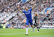 FRANK LAMPARD CELEBRATES GOAL.NEWCASTLE V CHELSEA.NEWCASTLE V CHELSEA.ST JAMES PARK, NEWCASTLE, ENGLAND.04 April 2009.DIX94516..  .WARNING! This Photograph May Only Be Used For Newspaper And/Or Magazine Editorial Purposes..May Not Be Used For, Internet/Online Usage Nor For Publications Involving 1 player, 1 Club Or 1 Competition,.Without Written Authorisation From Football DataCo Ltd..For Any Queries, Please Contact Football DataCo Ltd on +44 (0) 207 864 9121