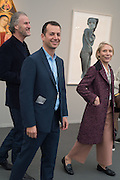 MATTHEW SLOTOVER; EMILY KING, Opening of Frieze Masters, Regents Park, London 12 October 2015