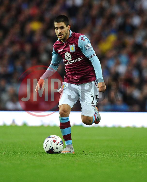 Carles Gil of Aston Villa  - Mandatory byline: Joe Meredith/JMP - 07966386802 - 25/08/2015 - FOOTBALL - Villa Park -Birmingham,England - Aston Villa v Notts County - Capital One Cup - Second Round