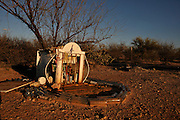 A roadside shrine sits along Route 286 between Three Points and the Buenos Aries National Wildlife Refuge in the Sonoran Desert, Arizona, USA.
