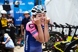 Alice Arzuffi (ITA) can\t believe the team won the final stage at Amgen Tour of California Women's Race empowered with SRAM 2019 - Stage 3, a 126 km road race from Santa Clarita to Pasedena, United States on May 18, 2019. Photo by Sean Robinson/velofocus.com
