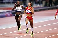 Friidrett , 8. august 2012 , Olympiske leker London , OL , <br /> Athletics , August 8th 2012 , Olympic Games London<br /> <br /> Allyson Felix , USA winner 200 m