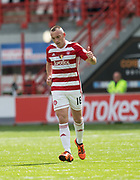 12th August 2017, SuperSeal Stadium, Hamilton, Scotland; SL Football league Hamilton Academicals versus Dundee; Hamilton's Darian MacKinnon gives a thumbs up after scoring