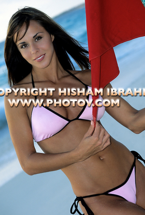 Sexy Brunette woman in bikini, Cancun, Mexico