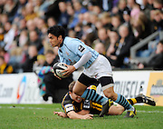 Wycombe, GREAT BRITAIN,  Bristols David LEMI, during the Guinness Premiership match, London Wasps vs Bristol Rugby, played at the Adams Park Stadium, on Sat. 23rd Feb 2008.  [Mandatory Credit, Peter Spurrier/Intersport-images]