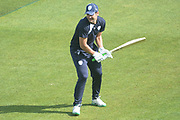 Rilee Rossouw of Hampshire practicing ahead of the Specsavers County Champ Div 1 match between Hampshire County Cricket Club and Middlesex County Cricket Club at the Ageas Bowl, Southampton, United Kingdom on 16 April 2017. Photo by David Vokes.