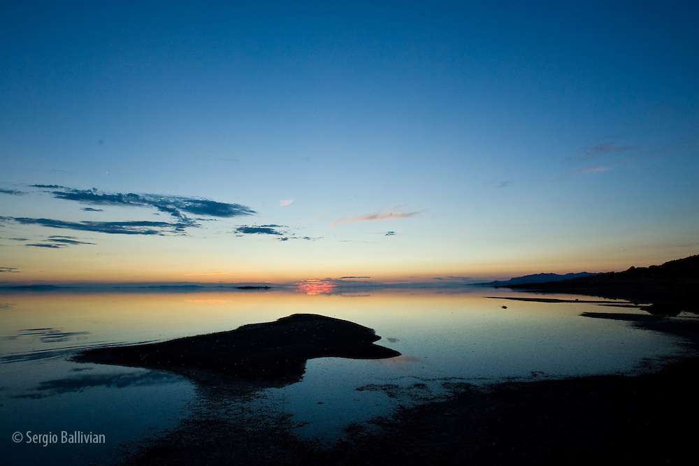 Sunset on the Great Salt Lake near Salt Lake City, UT