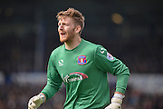 Carlisle United Goalkeeper Mark Gillespie during the Sky Bet League 2 match between Portsmouth and Carlisle United at Fratton Park, Portsmouth, England on 2 April 2016. Photo by Adam Rivers.