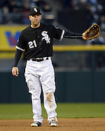 CHICAGO - MAY 05:  Todd Frazier #21 of the Chicago White Sox fields against the Boston Red Sox on May 5, 2016 at U.S. Cellular Field in Chicago, Illinois.  The Red Sox defeated the White Sox 7-3.  (Photo by Ron Vesely)    Subject:  Todd Frazier