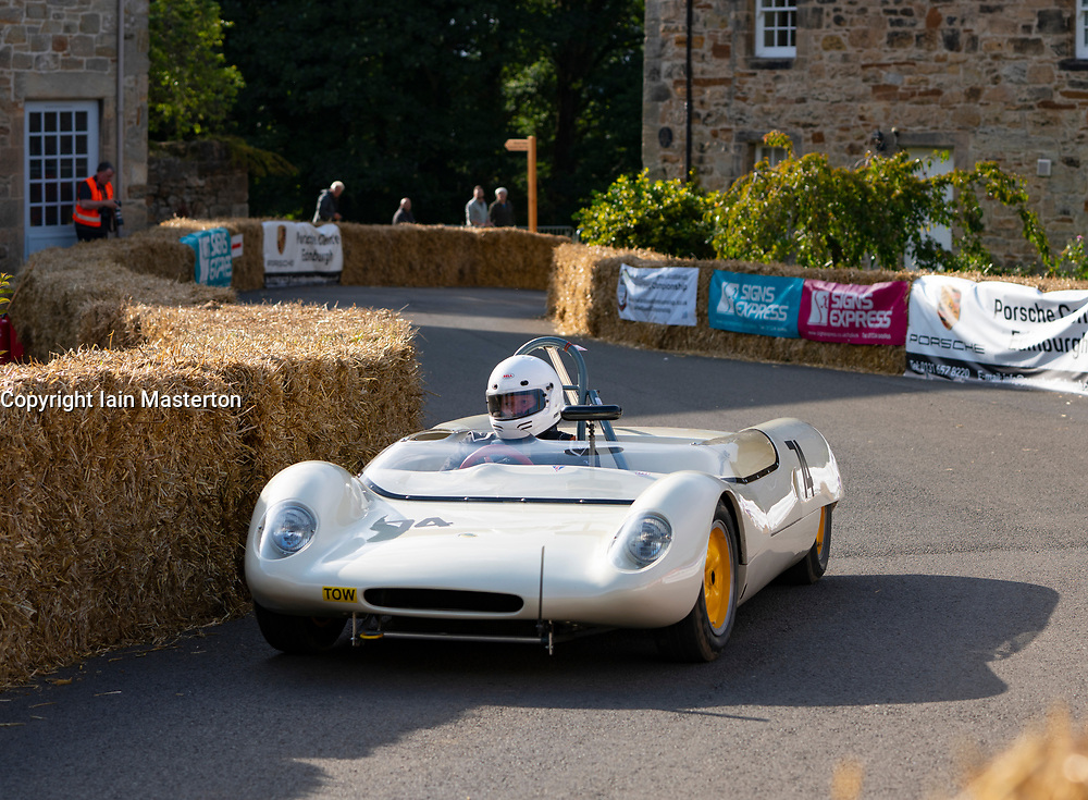 Boness Revival hillclimb motorsport event in Boness, Scotland, UK. The 2019 Bo'ness Revival Classic and Hillclimb, Scotland's first purpose-built motorsport venue, it marked 60 years since double Formula 1 World Champion Jim Clark competed here.  It took place Saturday 31 August and Sunday 1 September 2019. 74. John Albiston. Lotus 23b.