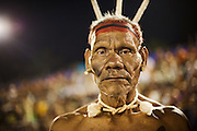 The Xavante elder poses during the Indigeouns National Party 2007.
