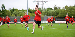 NEWPORT, WALES - Tuesday, June 5, 2018: Wales' Angharad James during a training session at Dragon Park ahead of the FIFA Women's World Cup 2019 Qualifying Round Group 1 match against Bosnia and Herzegovina. (Pic by David Rawcliffe/Propaganda)