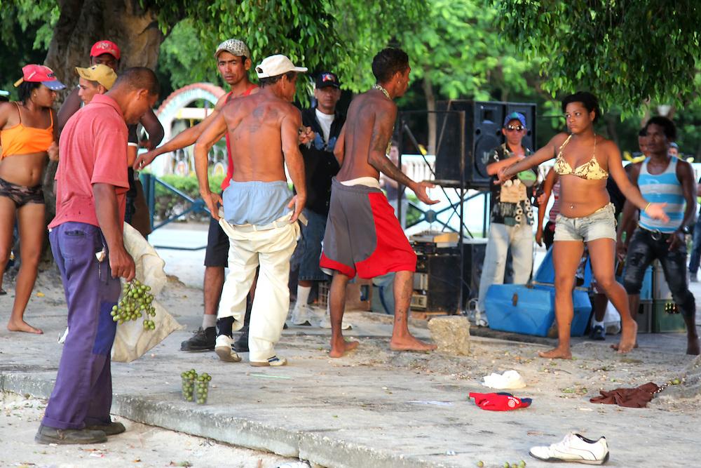 Fight in Manzanillo, Granma, Cuba.
