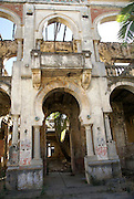 Madagascar, Northern Madagascar, Antsiranana (Diego-Suarez) ruins of a once-elegant French military hotel