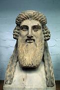 Dionysius, Greek god of wine (Bacchus in Roman pantheon). Bust