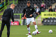 Forest Green Rovers Farrend Rawson(6) warming up during the EFL Sky Bet League 2 match between Forest Green Rovers and Port Vale at the New Lawn, Forest Green, United Kingdom on 8 September 2018.
