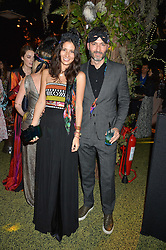 JASMINE HEMSLEY and NICK HOPPER at The Animal Ball presented by Elephant Family held at Victoria House, Bloomsbury Square, London on 22nd November 2016.