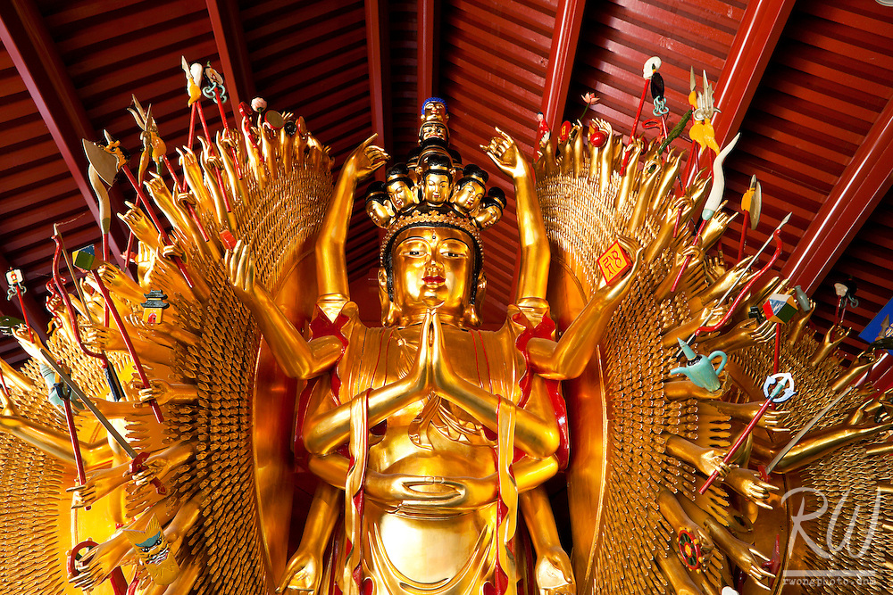 Avalokitesvara Buddha Thousand Hands Statue - International Buddhist Temple, Richmond, B.C.