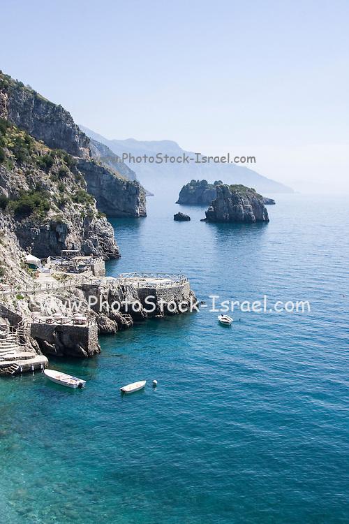 cliff rock formation near Sorrento, Campania, Italy