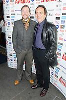 Rufus Hound & Robert Lindsay, WhatsOnStage Awards Nominations - launch party, Cafe De Paris, London UK, 06 December 2013, Photo by Raimondas Kazenas