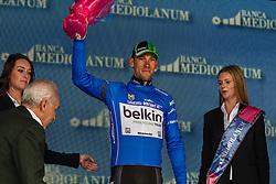 Maarten Tjallingii (NED) in his blue king of the mountain jersey, Belkin-Pro Cycling Team (NED,BEL), Stage 3 Armagh » Dublin, Giro d'Italia, Dublin, Ireland, 11th May 2014, Photo by Thomas van Bracht / www.pelotonphotos.com