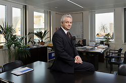 Manfred Bergmann, the European Commission's Directorate General for Taxation and Customs Union, at his office in Brussels, on Monday, Feb. 6, 2012. (Photo © Jock Fistick)