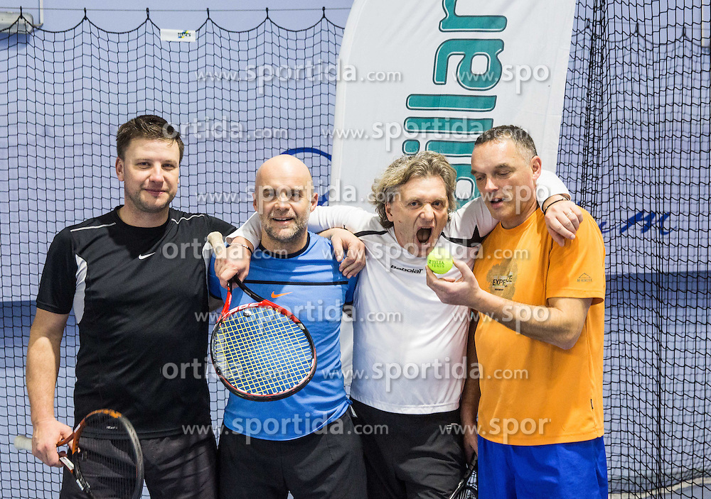 Recreational tennis doubles tournament BTC Medot, on January 14, 2017 in SC Millenium, BTC, Ljubljana, Slovenia. Photo by Vid Ponikvar / Sportida