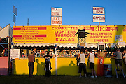 A convenience stall at Glastonbury Festival, 2005.