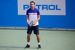 Frederik Nielsen (DEN) play against Albano Olivetti (FRA) at ATP Challenger Zavarovalnica Sava Slovenia Open 2018, on August 6, 2018 in Sports centre, Portoroz/Portorose, Slovenia. Photo by Urban Urbanc / Sportida