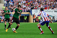 Atletico de Madrid´s Diego Godin and Athletic Club´s Ander Iturraspe during 2014-15 La Liga match between Atletico de Madrid and Athletic Club at Vicente Calderon stadium in Madrid, Spain. May 02, 2015. (ALTERPHOTOS/Luis Fernandez)