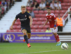 Southampton's Lloyd Isgrove chases the loose ball - Photo mandatory by-line: Joe Meredith/JMP - Mobile: 07966 386802 21/07/2014 - SPORT - FOOTBALL - Swindon - County Ground - Swindon Town v Southampton