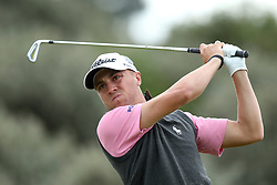 USA's Justin Thomas tees off the 2nd during day two of The Open Championship 2017 at Royal Birkdale Golf Club, Southport. PRESS ASSOCIATION Photo. Picture date: Friday July 21, 2017. See PA story GOLF Open. Photo credit should read: Andrew Matthews/PA Wire. RESTRICTIONS: Editorial use only. No commercial use. Still image use only. The Open Championship logo and clear link to The Open website (TheOpen.com) to be included on website publishing. Call +44 (0)1158 447447 for further information.