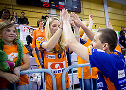 Andrej Flajs of ACH celebrates after the volleyball game between OK Panvita Pomgrad and ACH Volley in Final of 1st DOL Slovenian National Championship 2014, on April 15, 2014 in Murska Sobota, Slovenia. ACH won 3-1 and became Slovenian Volleyball Champion 2014. Photo by Vid Ponikvar / Sportida