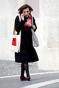 2013/03/19 Roma, parlamentari in Piazza Montecitorio. Nella foto Sandra Zampa.<br /> Rome, parliamentarians in Montecitorio Square. In the picture Sandra Zampa - &copy; PIERPAOLO SCAVUZZO