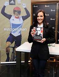 Victoria Pendleton sign copies of her new book Between the Lines  at Harrods in London, Wednesday, 26th September 2012. Photo by: i-Images