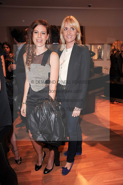 Left to right, FRANCESCA VERSACE and LADY EMILY COMPTON at a party to celebrate the B.zero 1 design by Anish Kapoor held at Bulgari, 168 New Bond Street, London n 2nd June 2010.