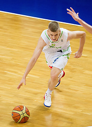 Luka Rupnik of Slovenia vs Marco Lagana of Italy during basketball match between National team of Slovenia and Italy in First Round of U20 Men European Championship Slovenia 2012, on July 12, 2012 in Domzale, Slovenia.  (Photo by Vid Ponikvar / Sportida.com)