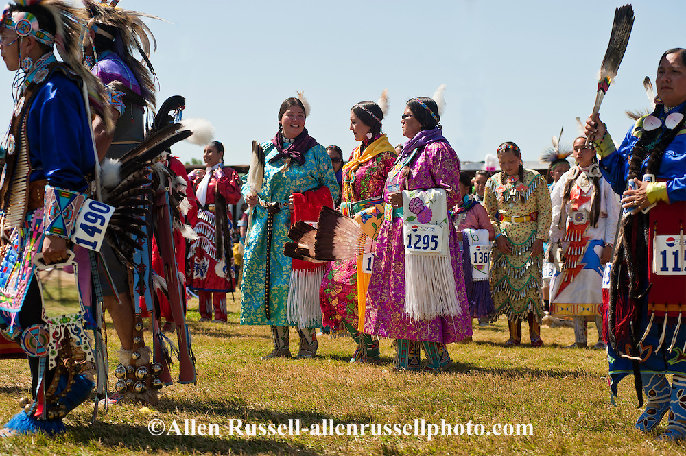 Traditional dancers, Crow Fair, powwow, Grand Entry, Montana