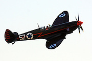 Israeli Air force Supermarine spitfire MK. IX in flight