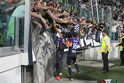 October 14, 2017 - Turin, Piedmont, Italy - Marco PAROLO (SS Lazio) celebrates the victory against Juventus after the Serie A football match between Juventus FC and SS Lazio at Olympic Allianz Stadium on 14 October, 2017 in Turin, Italy. (Credit Image: © Massimiliano Ferraro/NurPhoto via ZUMA Press)